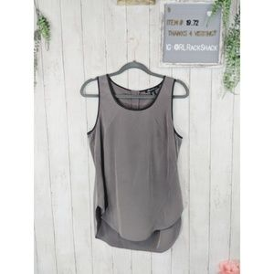 Kenneth Cole tank top, olive green, leather lining
